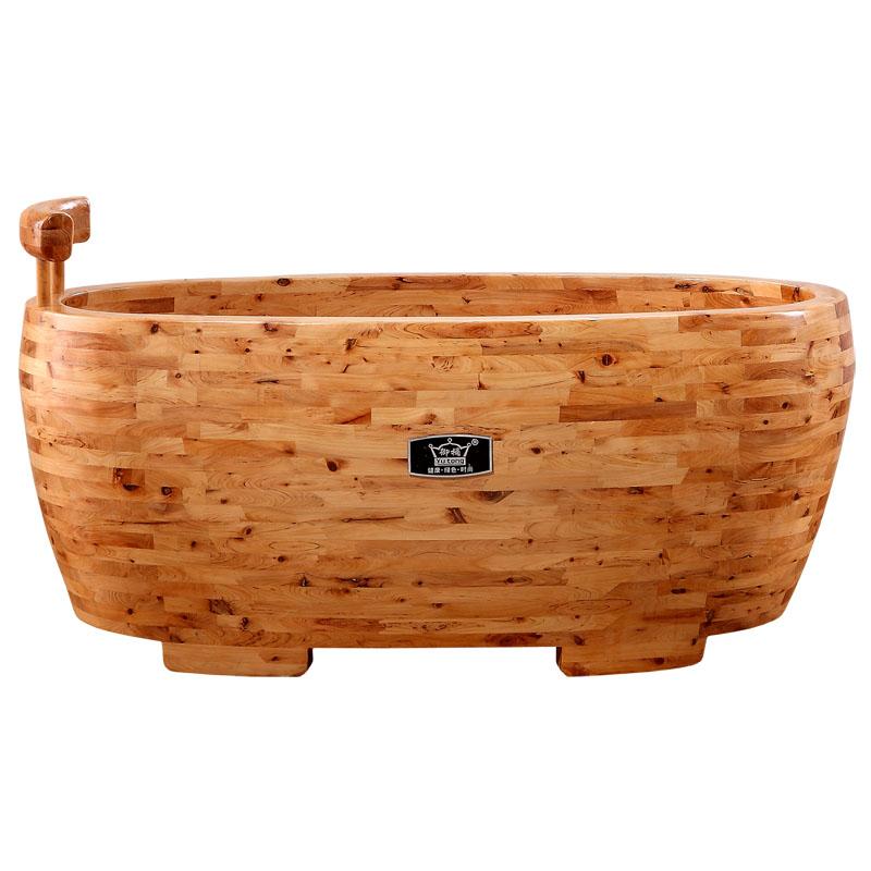御桶加厚沐浴桶洗澡木桶浴桶成人泡澡桶实木浴盆木质浴缸家用