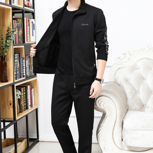 男士运动套装春秋服装宽松爸爸装休闲套装新款长袖两件套xn-vs
