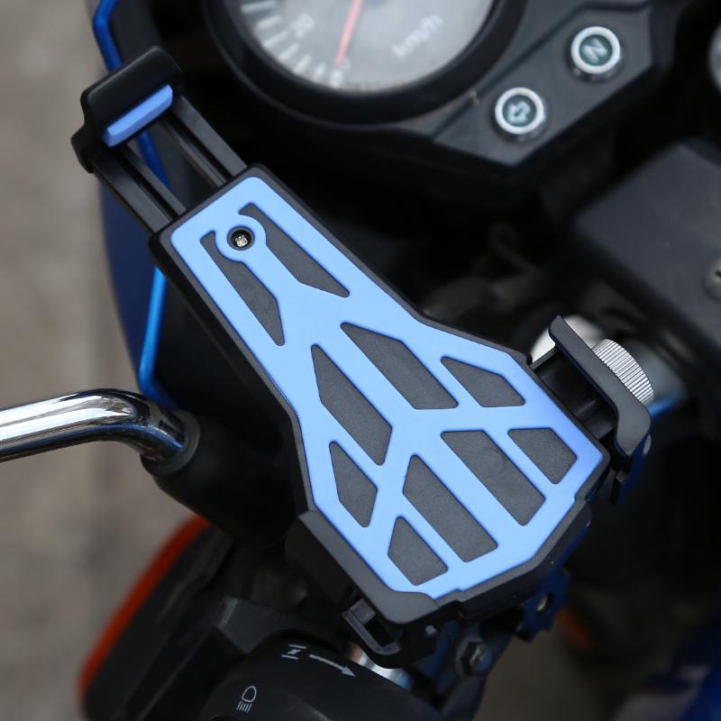 S2摩托车手机导航支架电动车自行车手机架机车骑行手机架防震通用