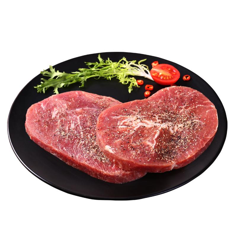伊赛牛排家庭儿童黑胡椒套餐团购10片新鲜牛肉家用番茄清真牛扒