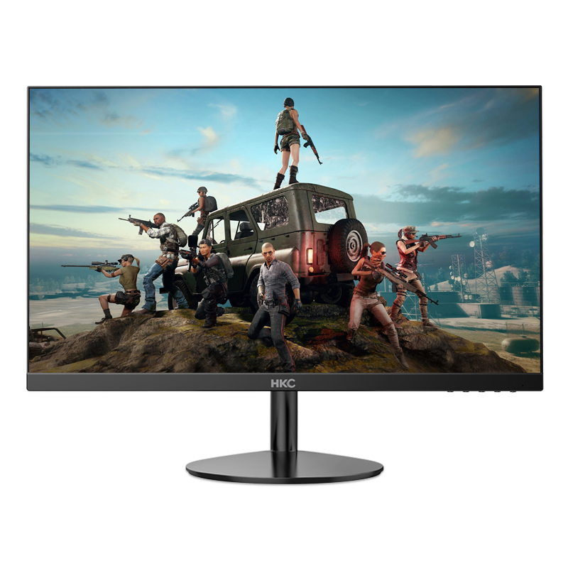 HKC显示器27英寸台式电脑显示屏超薄无边框壁挂HDMI电竞屏幕H270