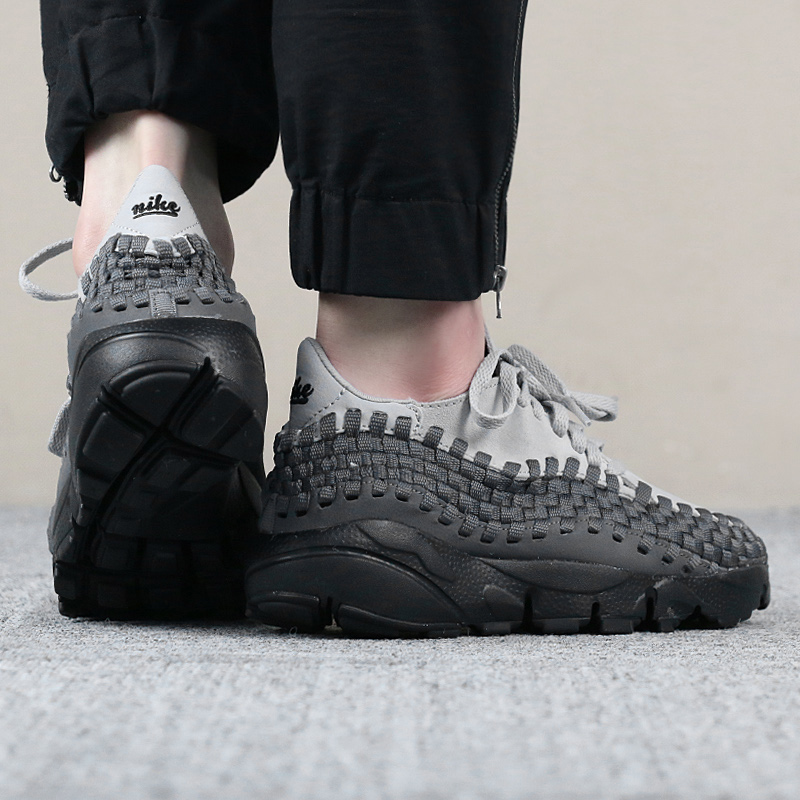 buy popular 9bbc8 1fb5b Nike NIKE Air Footscape Woven Womens Lightweight Knit Casual Shoes 917698-004  ...