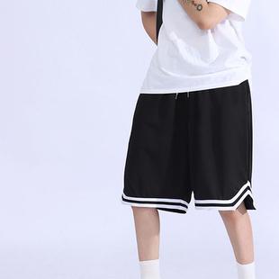 运动短裤男士夏季薄款宽松速干休闲篮球裤子外穿冰丝沙滩五分中裤