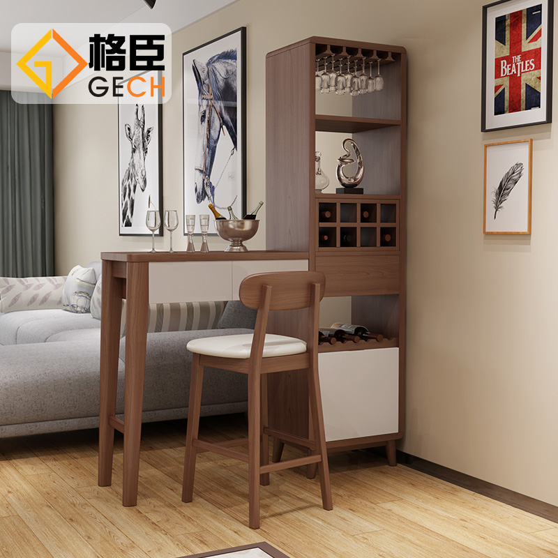 Nordic Bar Counter Simple Household Small Apartment Partition Cabinet  Decorative Counters Entrance Hall Hall Cabinets Living Room Furniture