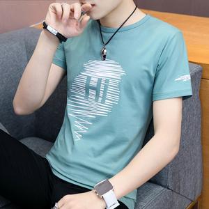 短袖男士t恤夏季韩版潮流夏天圆领半袖上衣服男生纯棉夏装体恤男