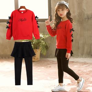 女童秋装2018新款时髦套装儿童韩版时尚两件套中大童洋气运动套装