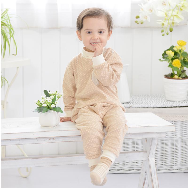 3koalas婴儿内衣套装春秋款宝宝睡衣儿童长袖秋衣薄款