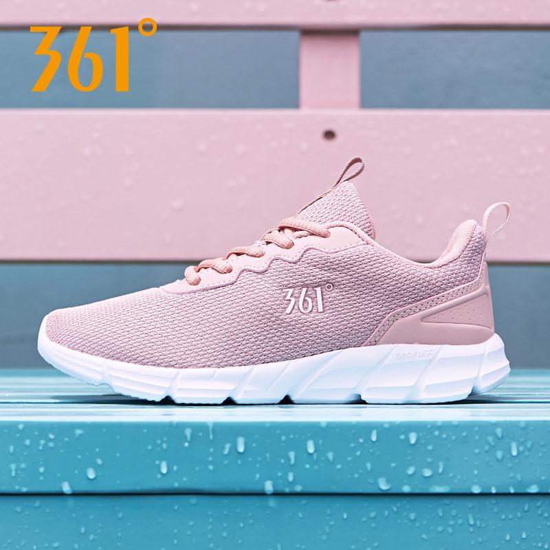 361度跑步鞋女鞋2018秋季款网面慢跑鞋冬季轻便旅游鞋361运动鞋女