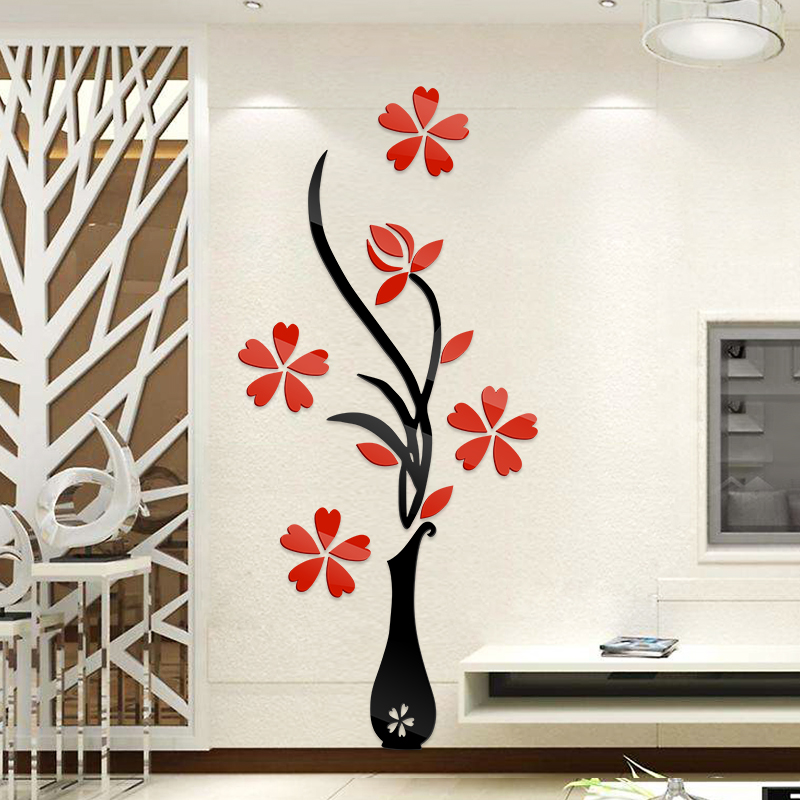 3d Acrylic Wall Sticker Entrance Wall Sofa TV Background Wall Decorative  Wall Stickers Living Room Layout Stickers