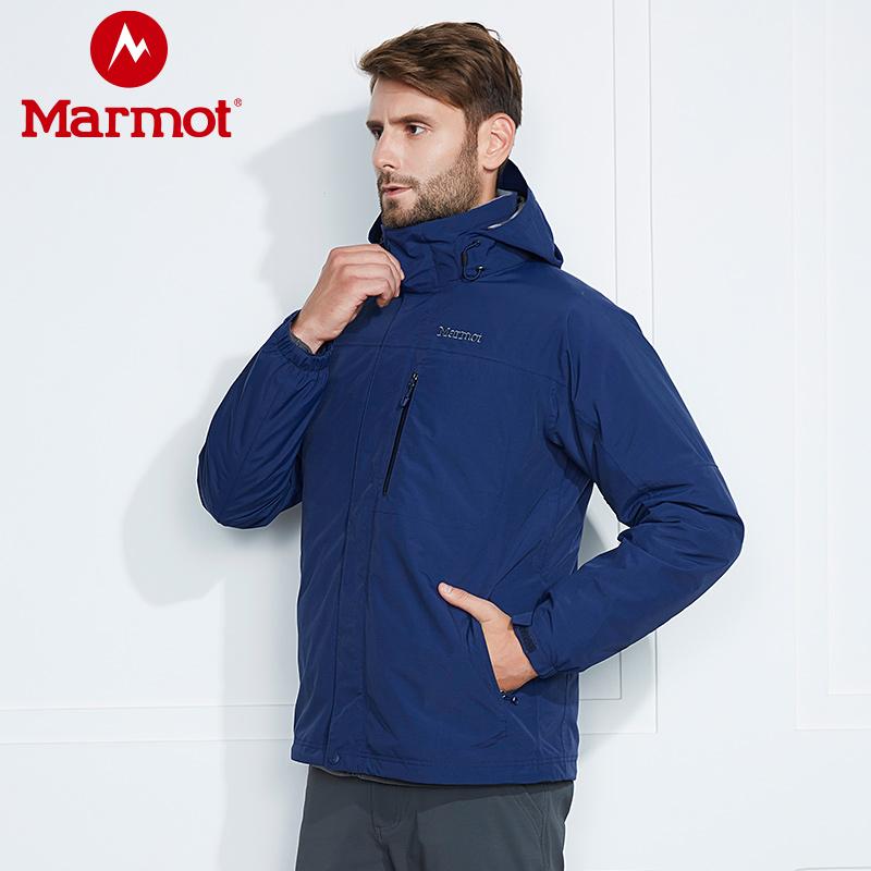 9日0点开始 Marmot 土拨鼠 L41290 羽绒内胆 防水透气保暖 户外男式三合一冲锋衣 双重优惠折后¥1299包邮 2色可选