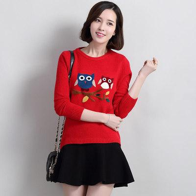 领毛衣女韩版打底衫秋冬新款长袖修身百搭套头上衣针织衫