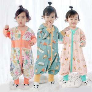呼西贝儿童分腿睡袋春夏季宝宝薄款大婴儿童空调房纯棉宝宝睡衣