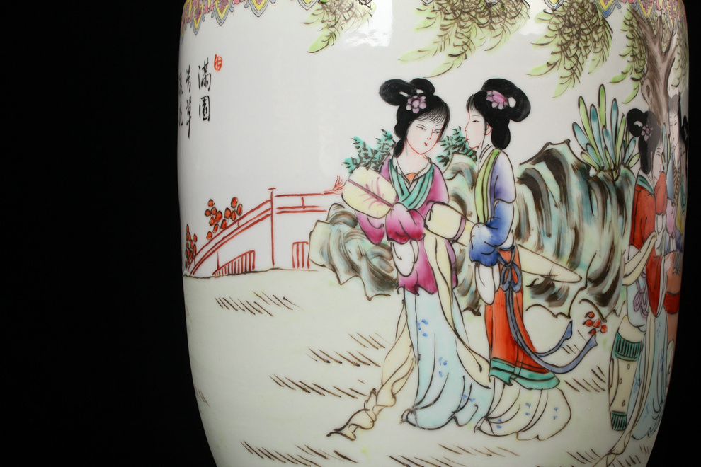 Porcelain industry of jingdezhen ceramics art ears had classical Ming and the qing dynasty vase household decoration as furnishing articles