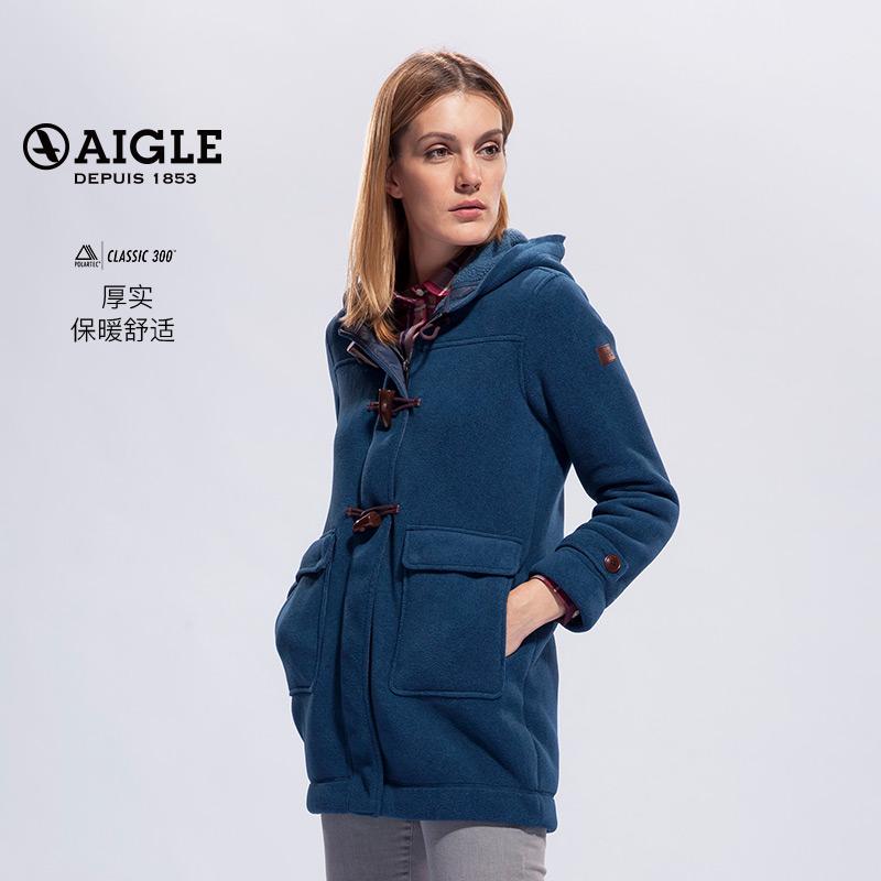 AIGLE 艾高 女士经典双排扣轻质保暖抓绒衣 MARE