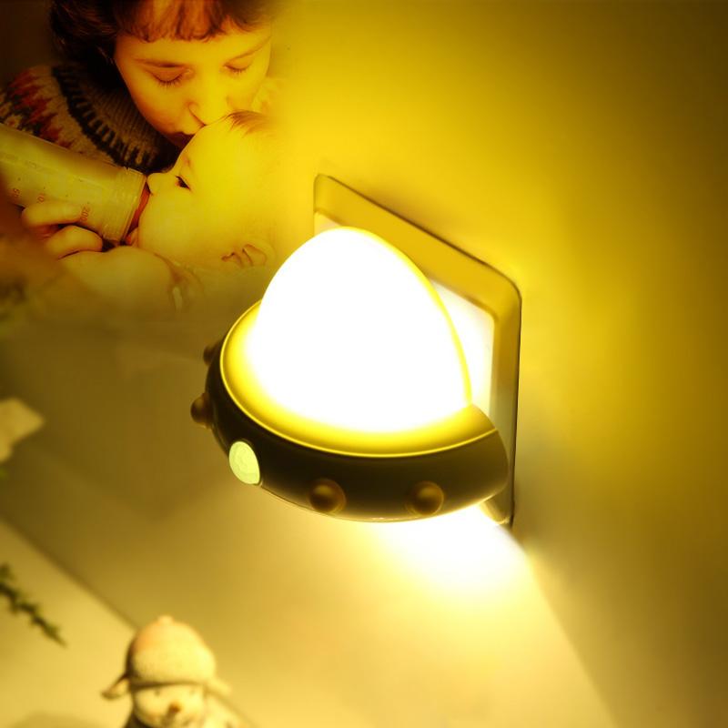 插电led小夜灯泡遥控台灯卧室床头儿童睡眠创意梦幻节能婴儿喂奶