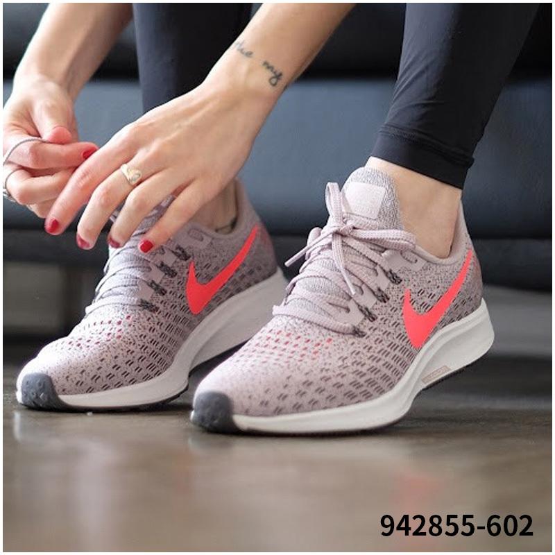 Nike耐克运动鞋女鞋2018秋季新款zoom轻便透气休闲鞋跑步鞋942855
