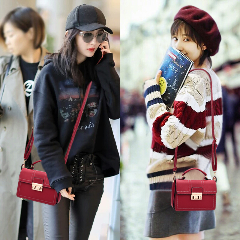 The lady small bag female 2017 new Korean version of the new messenger bag girls fashion chic simple wild tide