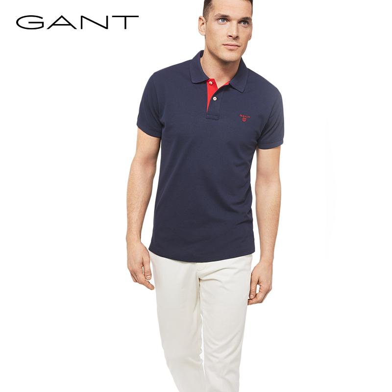 GANT-甘特2018男士春新款时尚休闲修身多色短袖POLO衫252105
