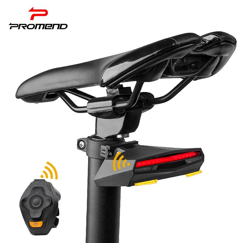 山地自行车灯车尾灯智能遥控转向灯激光警示灯夜骑行装备单车配件