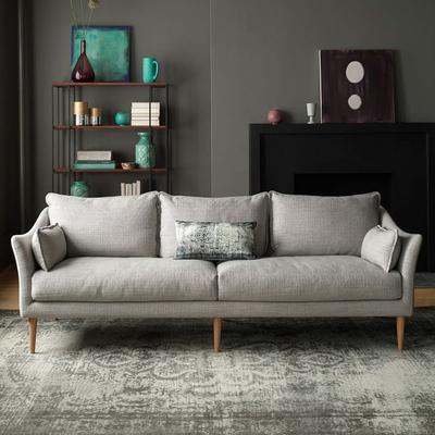 北欧沙发布艺简约小户型公寓客厅整装双人三人四人位乳胶沙发羽绒