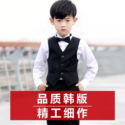 儿童西装男童花童礼服男童西装马甲套装钢琴服主持人演出服春秋