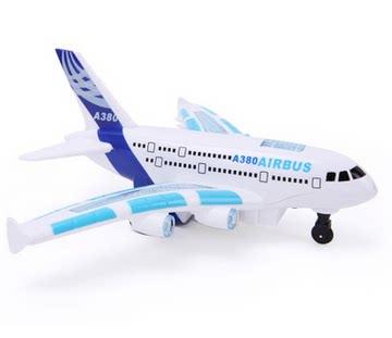 新款遥控飞机空中巴 电动飞机模型玩具 航空模型灯光音乐充电耐摔