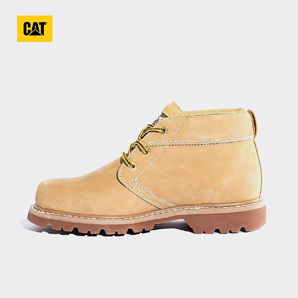 CAT-卡特牛皮-牛剖层革男鞋户外中帮休闲男靴粗犷P721424G3EDR40