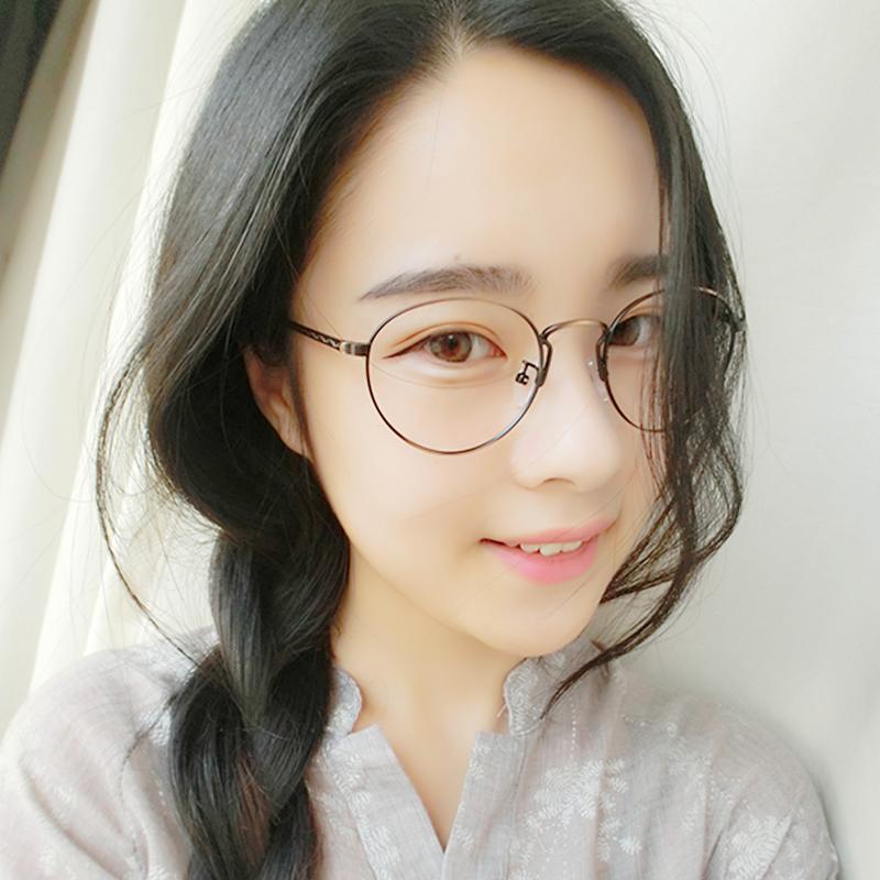 复古眼镜框女 大款圆框蓝光近视眼镜女韩版潮眼睛框镜架男配眼镜