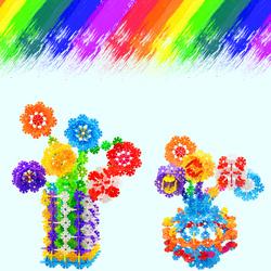 今日特价网雪花片桶装大号加厚1000拼插积木儿童益智幼儿园玩具批发3-6周岁