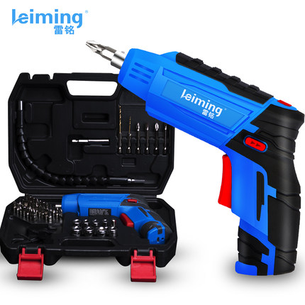 Electric Drill Lei Ming household rechargeable electric screwdriver hand drill mini screwdriver tool set