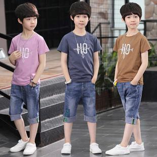 童装男童夏装套装2019新款儿童洋气夏款休闲帅气男孩衣服两件套潮