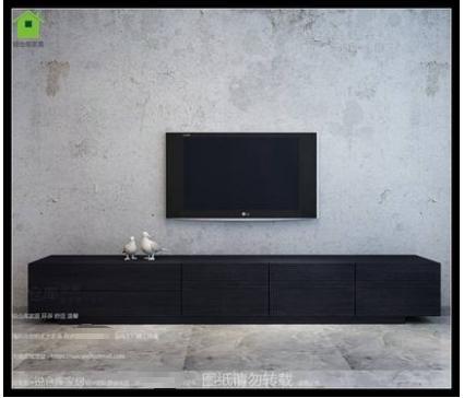 现代简约电视柜北欧加长电视柜客厅大小户型黑橡木色储物电视柜