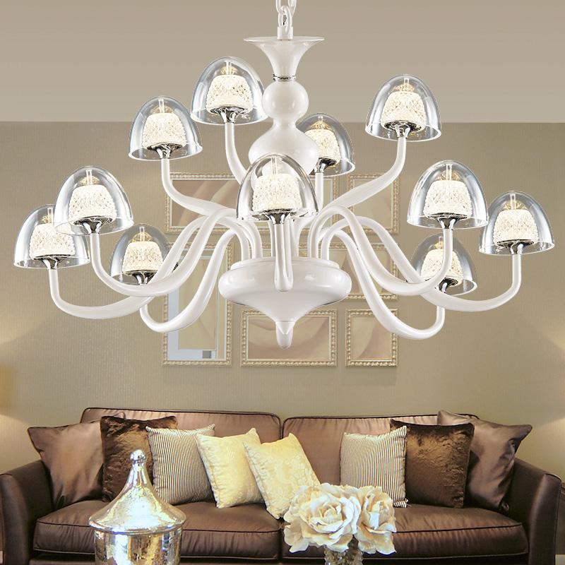 琪朗 创意个性吊灯水晶沙客厅灯餐厅卧室灯具9018 线下同款