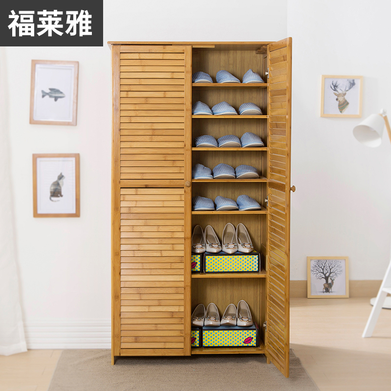 Multifunctional Shoes Simple Shoe Multi Layer Solid Wood Shoe Rack Simple  Modern Storage Living Room Entrance Hall Cabinet Storage