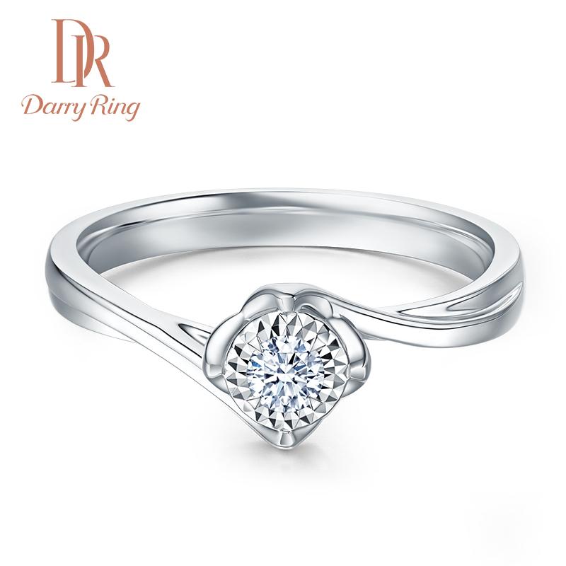 DR DarryRing 求婚结婚钻戒 正品DR1克拉钻石戒指女戒