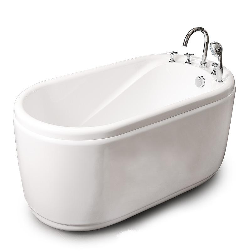 精智独立式浴缸家用成人小户型浴盆卫生间亚克力坐式浴池1.2米