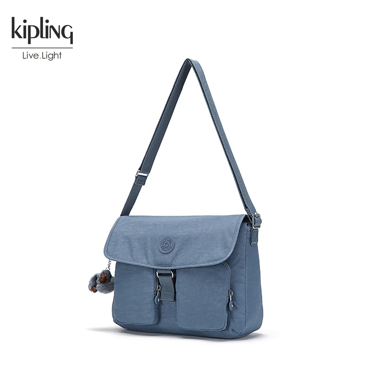 Kipling凯浦林2018新款简约单肩包K13698休闲女包斜挎包