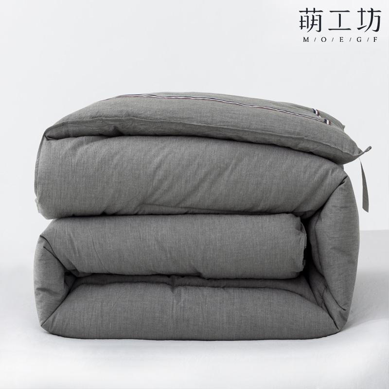 萌工坊 英伦风棉被芯水洗棉冬被加厚保暖空调被子单人春秋被