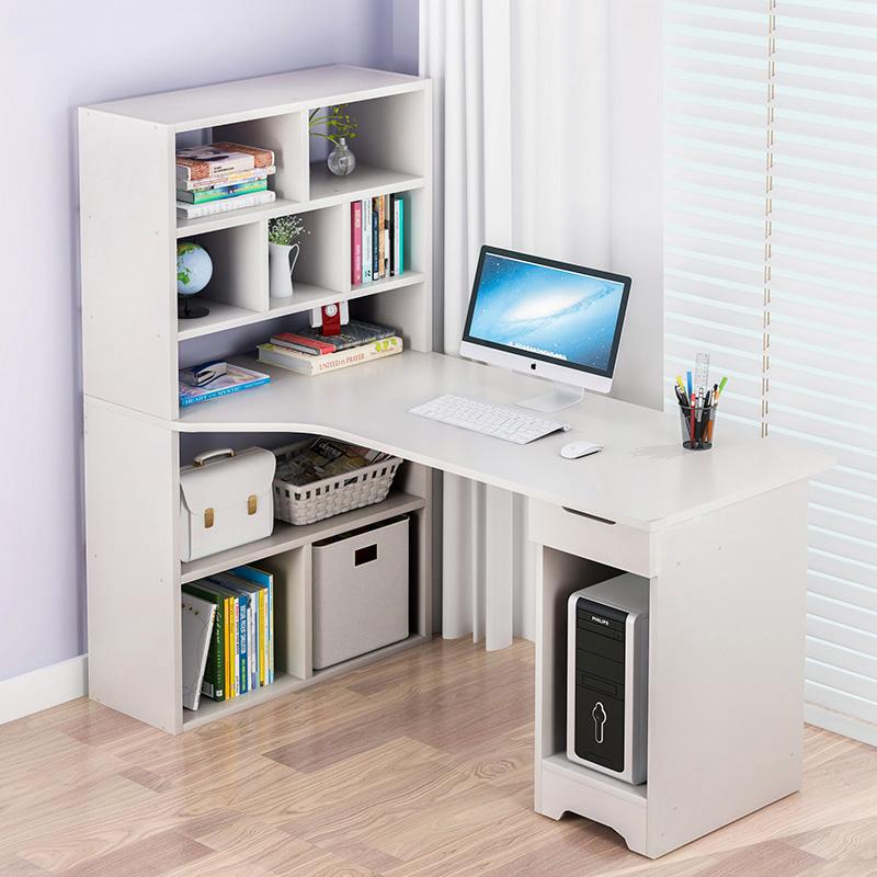 蔓斯菲尔电脑台式桌家用书柜书桌一体书架组合简约桌子学生写字桌
