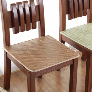 夏季清凉凉席坐垫椅子垫冰丝办公室学生冰藤椅垫子汽车座垫餐椅垫
