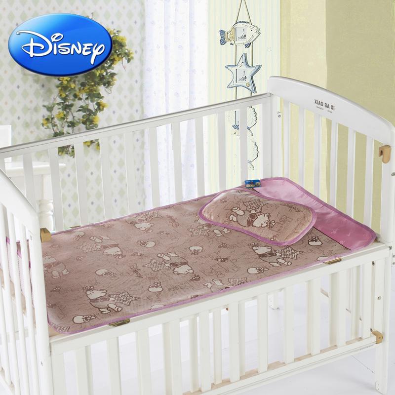 迪士尼婴儿凉席子 夏儿童床草席 幼儿园宝宝床凉席冰丝可定制童席