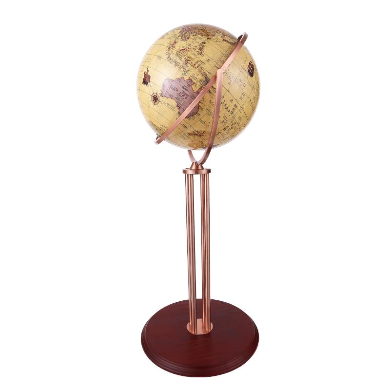 42-62cm大号高清万向复古地球仪书房客厅落地摆件装饰工艺礼品