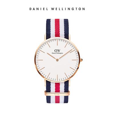 DanielWellington丹尼尔惠灵顿 dw手表男 40mm织纹时尚石英男表
