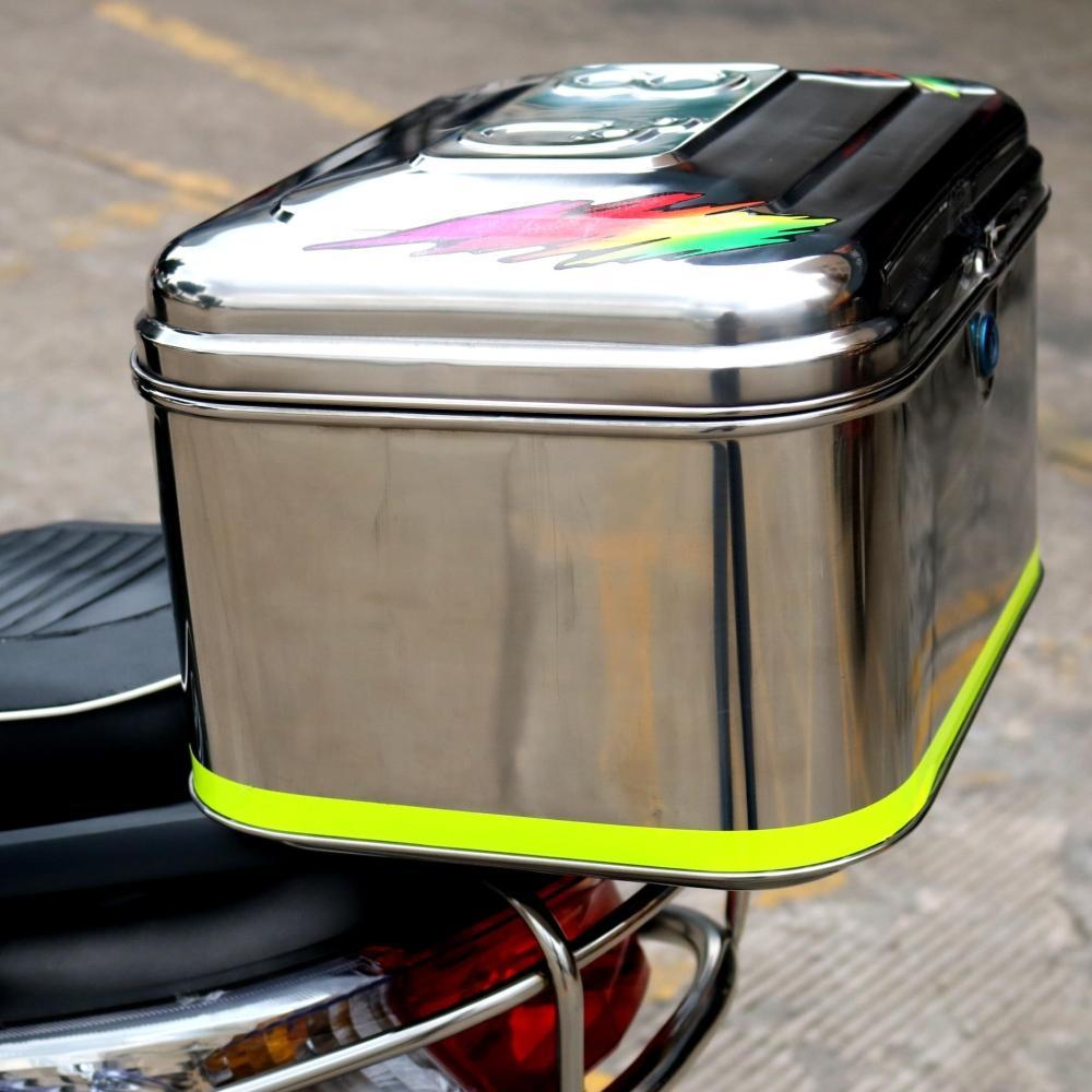 摩托车后备箱 尾箱 电动车后尾箱特大号 加厚不锈钢工具箱