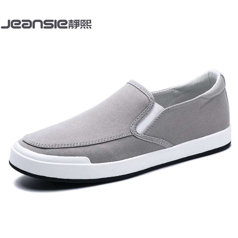 透气老北京布鞋一脚蹬懒人鞋秋季男鞋子韩版休闲板鞋潮流帆布鞋男