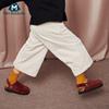 迷你巴拉巴拉女童阔腿裤2018冬新款童装保暖儿童加厚长裤子休闲裤
