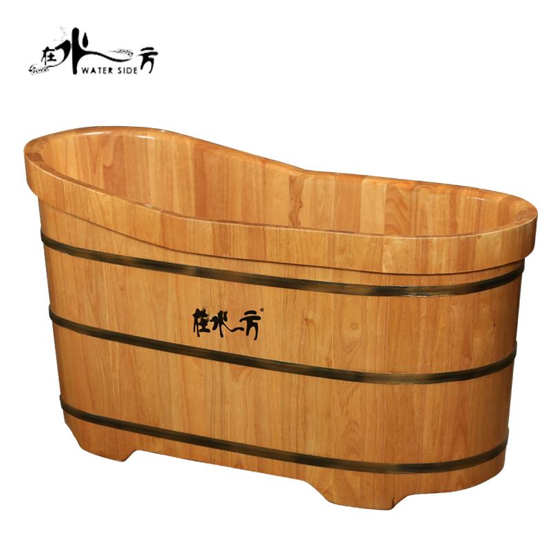在水一方橡木熏蒸泡澡木桶浴桶成人实木浴缸泡澡桶木桶洗澡沐浴桶