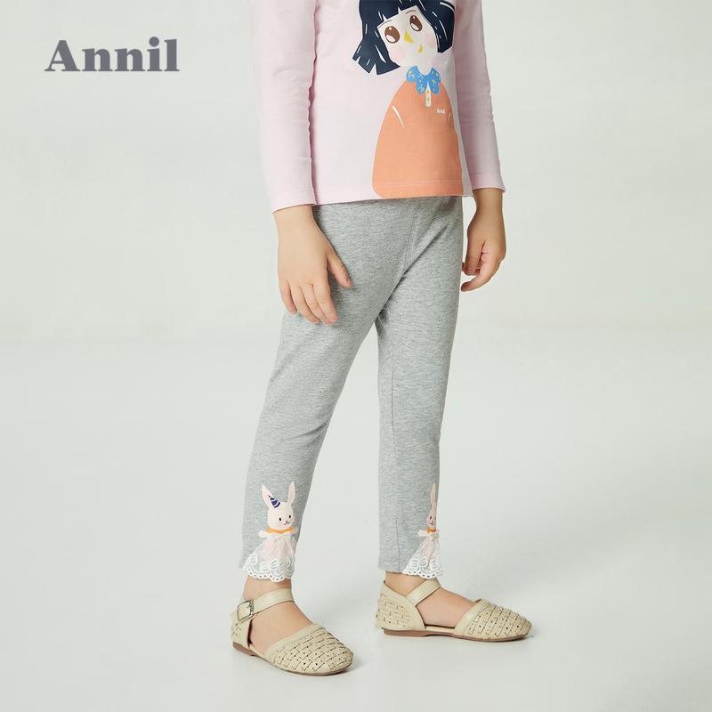 安奈儿 21年春季款 女童全腰针织蕾丝打底裤  天猫优惠券折后¥39包邮(¥79-40)80~120码3色可选