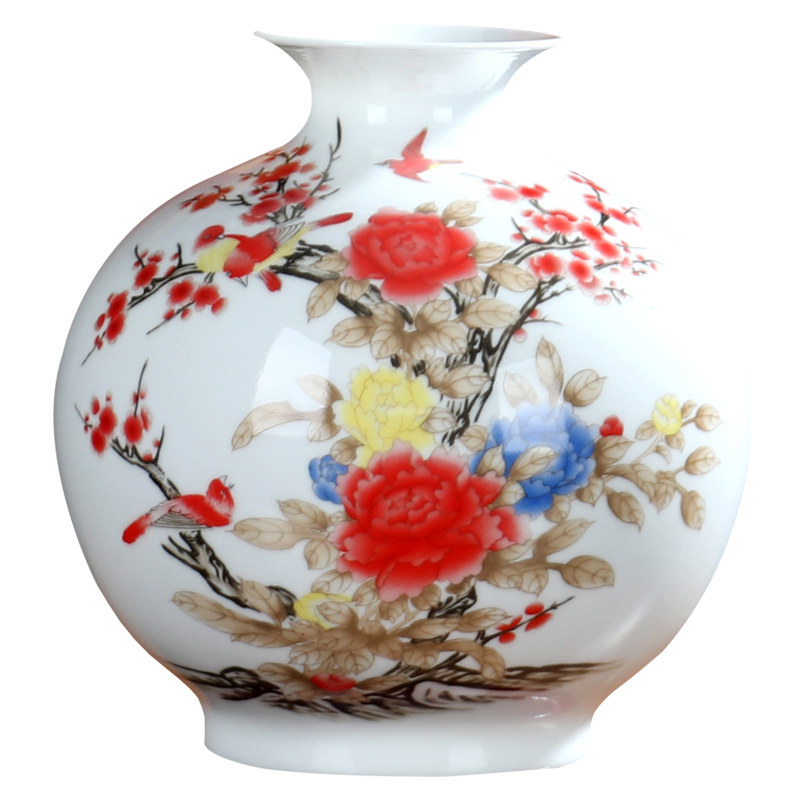 Pomegranate bottle of flower implement creative vase furnishing articles sitting room flower arranging office of jingdezhen ceramics flower decoration