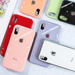 苹果11Pro液态XSmax硅胶8plus手机壳iPhone7p马卡龙玻璃防摔6sp款